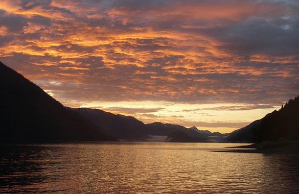 A Beautiful Sunset in Southeast Alaska