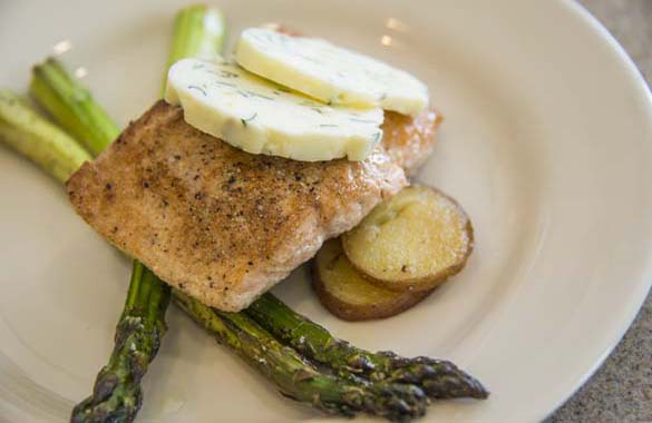 Salmon Filet with Lemon/Tarragon Butter Recipe