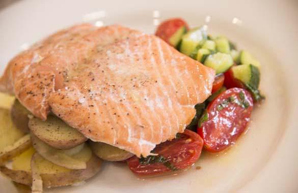 Salmon and Salad Recipe