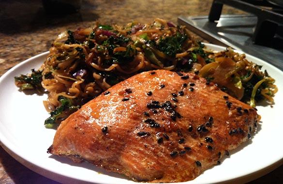 Asian Salmon with Stir Fry