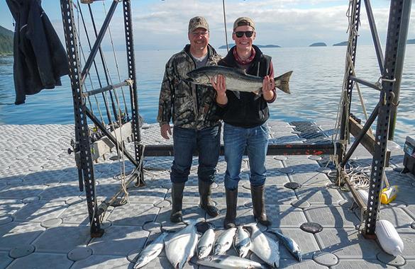 King Salmon at Doc Warners in Alaska